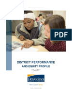 Fall 2017 District Performance and Equity Profile
