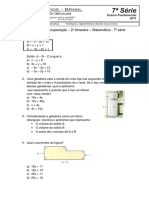 Matematica - 7 Serie - EF