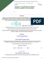 Transport Phenomena Fluid Mechanics Pro... Fluid in a Parallel - Disk Viscometer