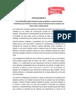 Pronunciamiento Colectivo Interinstitucional Niñez 27-10-17