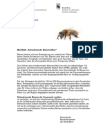 Merkblatt Schwärmende Bienenvölker