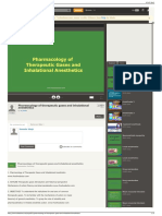Pharmacology of Therapeutic Gases and Inhalational Anestheti