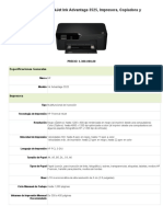 Multifuncional HP DeskJet Ink Advantage 3525