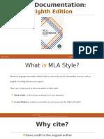 Mla Documentation Presentation Carol Degrasse f16 Accessible