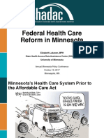 MN Health Policy Lukanen FederalHealthCareReformInMinnesota