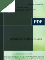 Tecnologias de Construção Tema- Alvenaria de Paredes de Concreto in Loco e Painéis Pré Moldados (1)