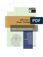 Self-care for Music Therapists