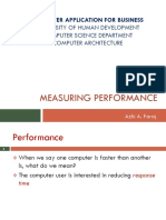 computer architecture measuring performance