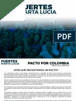 Pacto Por Colombia Marta Lucia Ramirez - 2018