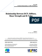 Relationship Between DCP, Stiffness, Shear Strength and R-Value (Caltrans Tech Memo UCPRC-TM-2005-12, July 2005)