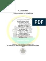 Plan de Área Tecnología 2013
