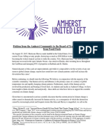 Petition From the Amherst College Community