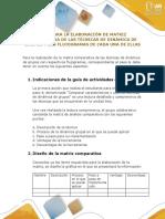Guía Matriz Comparativa y Flojograma
