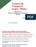 Procesos de Transporte, energia y masa