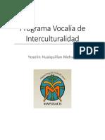 Programa Vocalía de Interculturalidad 2018