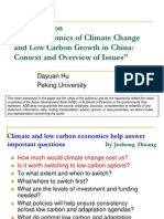 """Comments on """"The Economics of Climate Change and Low Carbon Growth in China"""