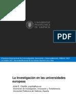 La Investigación en Las Universidades Europeas
