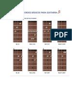 Acordes Basicos Para Guitarra Acustica