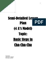 4As Lesson Plan for Teaching Basic Steps in Cha-Cha-Cha (PDF)
