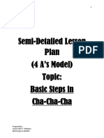 4As Lesson Plan for Teaching Basic Steps in Cha-Cha-Cha (PDF)