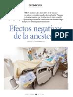 Efectos Negativos de La Anestesia