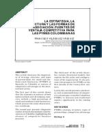 Velasquez F - La Estrategia, Estructura y Las Formas de Asociacion, Fuentes de Ventaja Competitiva