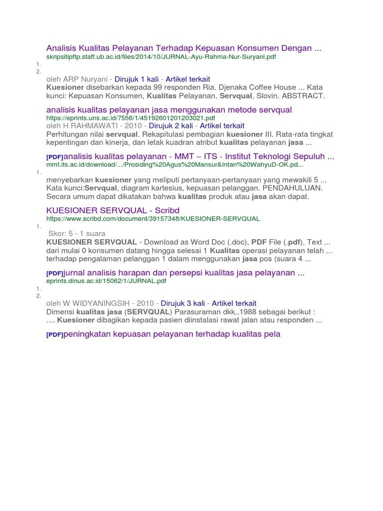 Analisis kualitas pelayanan terhadap kepuasan konsumen dengan ccuart Images