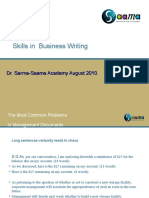 Communication Written Skills Aug 13 2010