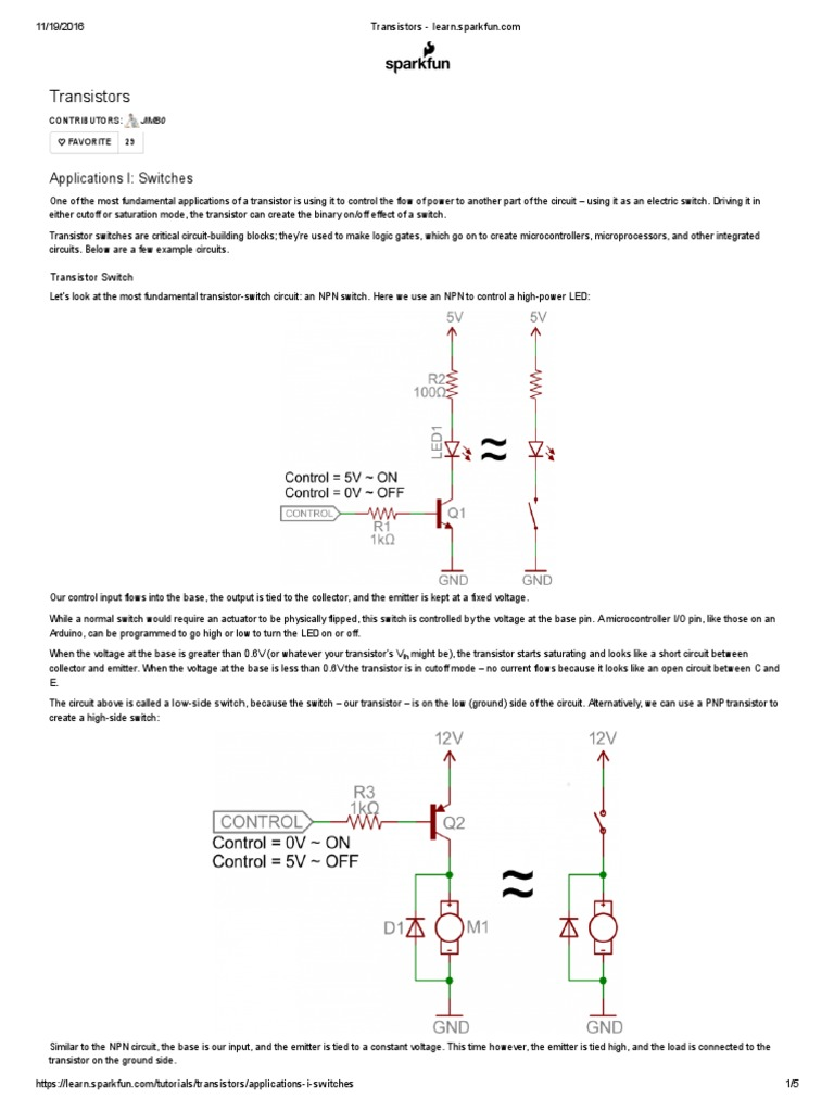 Transistors - Learn sparkfun   Transistor   Field Effect Transistor