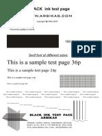 Test Printer Print