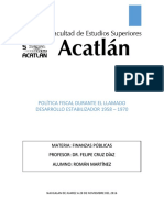 Política Fiscal Durante El Desarrollo Estabilizador