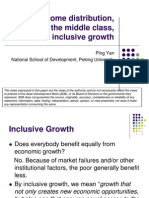 Income distribution, the rise of the middle class, and inclusive growth