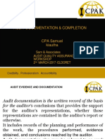 Documentation and Completion of Audit 2
