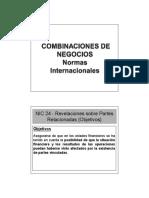Combinaciones de Negocios Normas Internacionales