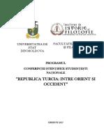 Program Conferinta Turcia 2017