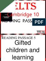 Cambridge 10 Reading 5