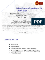 Moving up the Value Chain in Manufacturing for China