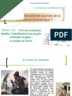 thème 1123- Le progrès technique exogène - analyse de Solow.ppt