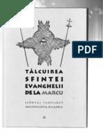 Sf Teofilact Al Bulgariei - Talcuirea Ev Marcu
