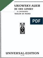 Aria Di Lensky Per Violino