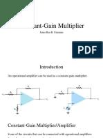 Constant Gain Multiplier
