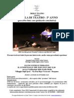 Volantino Scuola Teatro I Anno