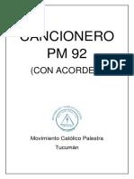 Cancionero Pm 92 Con Acordes