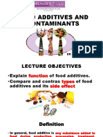 Food Additives and Contaminants