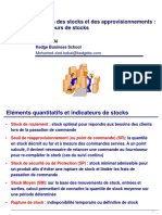 Indicateurs de Stocks