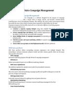 IBM Unica Campaign Management - Google Docs