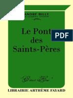 André Billy, Le Pont des Saints-Pères