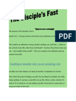 Fasting-The Purpose of the Disciple Fast