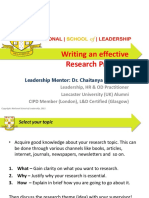 #02_Writing an Effective Research Proposal
