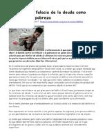 2017-10-25 Arencibia Argentina La Falacia de La Deuda Como Solución a La Pobreza